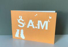 Geboortekaart Sam  #orange #oranje #geboortekaartje #ontwerpstudio #drukkerij