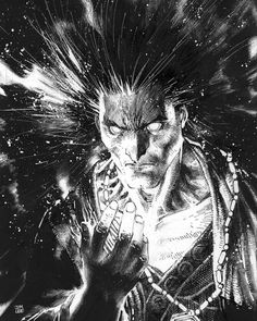 Sandman by Jim Lee Comic Book Artists, Comic Book Characters, Comic Artist, Comic Books Art, Black And White Comics, Black And White Drawing, Bd Comics, Marvel Comics, Morpheus Sandman
