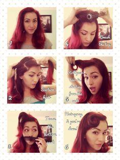 Rockabilly vintage hair tutorial . So Pin up !
