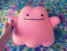 CROCHET PATTERNAmigurumi Ditto Pokemon Plush by girlwithapurl
