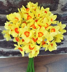 Artificial Daffodil Tete A Tete Flower Bouquet - Irish Plants Direct