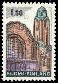 Postage stamp depicting the Helsinki main railway station Helsinki, Interesting Buildings, 12th Century, Tampons, Fauna, Stamp Collecting, Digital Collage, Postage Stamps, France