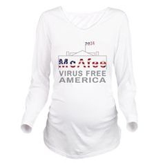 96736cf93 McAfee - Virus Free America Long Sleeve Maternity Maternity Fashion