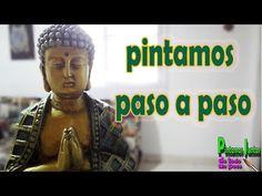 Decoupage, Mandala, Statue, Videos, Canvas, Painting, Ganesha, Altar, Youtube