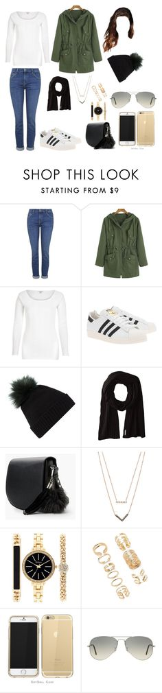 """""""Sin título #3599"""" by paula896 ❤ liked on Polyvore featuring Topshop, River Island, adidas Originals, Helen Moore, Soia & Kyo, MANGO, Michael Kors, Style & Co., Forever 21 and Ray-Ban"""