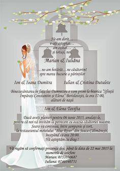 Invitatii personalizate Weddings, Wedding, Marriage