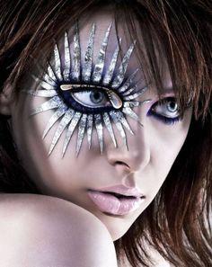 Science fiction eye makeup (via Dhanesh Shah)