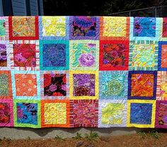 B and b squares quilt    by uniquelynancy