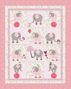 ELEPHANTS crib quilt por KinderGardenDesigns en Etsy