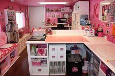 pink room | Organizing My Dream Scrapbooking Room
