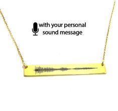 Sterling silver soundwave necklace gold plated,waveform necklace,sound wave pendant,waveform, sonogram ultrasound - Ship by DHL EXPRESS