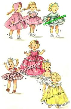 Doll Clothes Pattern Ginny Muffie Alexander-Kins #2