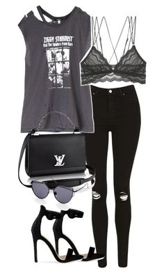 """""""Untitled #2388"""" by theeuropeancloset on Polyvore featuring Topshop, R13 and Cosabella"""