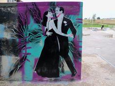 YOU'LL NEVER GET RICH (Sidney Lanfield, 1941)  Artist & Photo: PF http://www.streetartcinema.com/#!paul-fayt/c1j8a Location: Saint Quentin, France   #streetartcinema #streetart #cinema #PF #SaintQuentin #RitaHayworth #FredAstaire