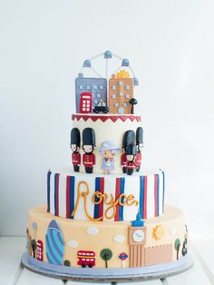 Birthday Cake Writing, Dad Birthday Cakes, Car Birthday, British Cake, British Party, London Cake, London Party, Dummy Cake, Royal Cakes