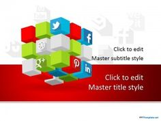 Free Social Cube PPT Template