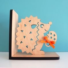 Hedgehog Bookend Wood Modern Baby Nursery by graphicspaceswood