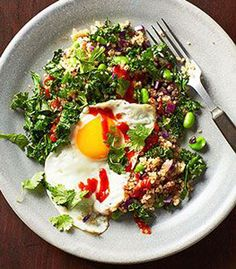 Clean Eating Diet, Clean Eating Recipes, Healthy Eating, Cooking Recipes, Healthy Life, Healthy Food, Fried Quinoa, Fried Rice, Quinoa Recipes Easy