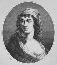 Anne-Josèphe Théroigne de Méricourt (born Anne-Josèphe Terwagne; 13 August 1762–9 June 1817) was a singer, orator and organizer in the French Revolution. Wikipedia