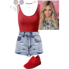 Shuffle by stinze on Polyvore featuring Doublju, Jessica Simpson, Bing Bang and Sunday Somewhere