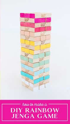 Diy Gifts For Kids, Diy For Kids, Projects For Kids, Diy Projects, Simple Hack, Jenga Game, Giant Jenga, Kids Inspire, Diy Ombre