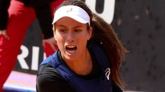 #tennis #news  Konta beaten by Halep as GB fall behind