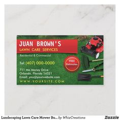 Landscaping Lawn Care Mower Business Card Template | 1000 Lawn Care Business Cards, Cleaning Business Cards, Pergola Pictures, Lawn Service, Mo Money, Lawn Mower, Card Templates, Business Products, Green Grass