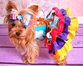 Primrose's Ruffled Corset Princess Dress for Dogs PDF Pattern sizes XS to XL