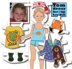 Personalized Magnetic Paper Doll