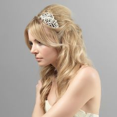 Classic and beautiful, this vintage inspired crystal and pearl head band is divine - a beautiful wedding side tiara for brides who adore vintage hair accessories
