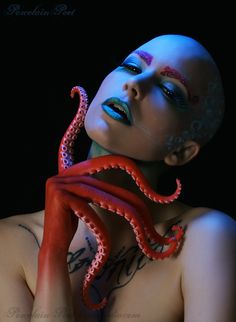 Octopus by `PorcelainPoet... you know what I am thinking....H.P. Lovecraft...but maybe not, I love my sea monsters.