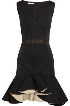 ANTONIO BERARDI Ruffled modal-jersey mini dress