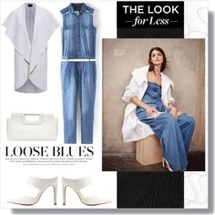 Denim jumpsuit - look for less! by tatajrj on Polyvore featuring AX Paris, Charlotte Russe, The Limited, LookForLess, denim and jumpsuit