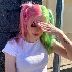 Hair Dye Colors, Cool Hair Color, Hair Inspo, Hair Inspiration, Split Dyed Hair, Arctic Fox Hair Color, Coloured Hair, Dye My Hair, Aesthetic Hair