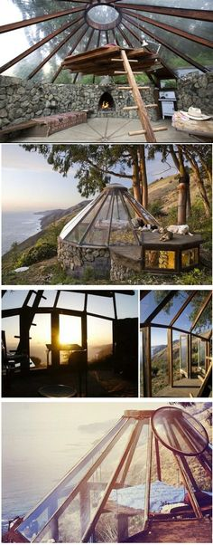 Big Sur Glass Roof Yurt Built in 1976  Grouped image by http://pinthemall.net