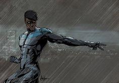 Nightwing by Saxon-Blake.deviantart.com on @DeviantArt