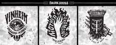 Dark Souls Emblem Collection on Behance Ornstein Dark Souls, Soul Tattoo, Tatoos, Graphic Art, How To Draw Hands, Behance, Collection, Tattoo Ideas, Ideas Para
