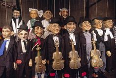 Puppets Of Jewish Musicians For Sale In The Old Jewish Quarter Of Prague Czech Republic