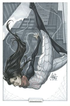 Spider Silk original art by Artgerm on @DeviantArt