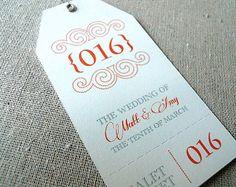 Valet ticket // Wedding valet ticket // Valet parking // Personalized