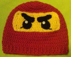 Crochet Lego Ninjago Hat