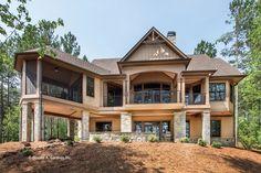 Craftsman Style House Plan - 4 Beds 4 Baths 2896 Sq/Ft Plan #929-2 Exterior - Rear Elevation - Houseplans.com