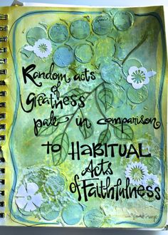 Mixed Media Journal Page - I love this, beautiful page and a great quote. @Beth Smith