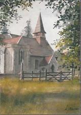 Rotherfield Greys, Oxfordshire - St. Nicholas Church - postcard c.1970s