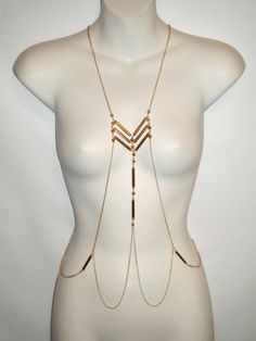 BODY CHAIN Gold Full Body Jewelry by MYYNESTREASURES on Etsy