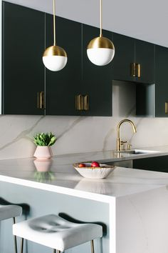 Glam, Gray Kitchen |