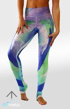 Azure Splash leggings - Arthletic Wear - 1