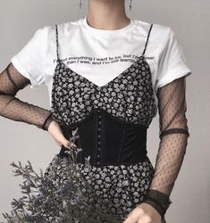 Women S Fashion Discount Codes Rock Style, My Style, Diy Fashion, Womens Fashion, Fashion Spring, Badass Outfit, Grunge Dress, Cami, What To Wear