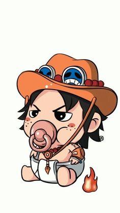 One Piece Theme, One Piece Ace, One Piece Comic, Kawaii Chibi, Anime Chibi, Kawaii Anime, Et Wallpaper, One Piece Wallpaper Iphone, One Piece Pictures