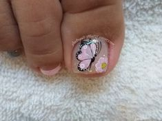 New Nail Art Design, Nail Art Designs, Toe Nail Art, Toe Nails, Merry Christmas Gif, Butterfly Nail Art, Sexy Toes, Spring Nails, Pedicure